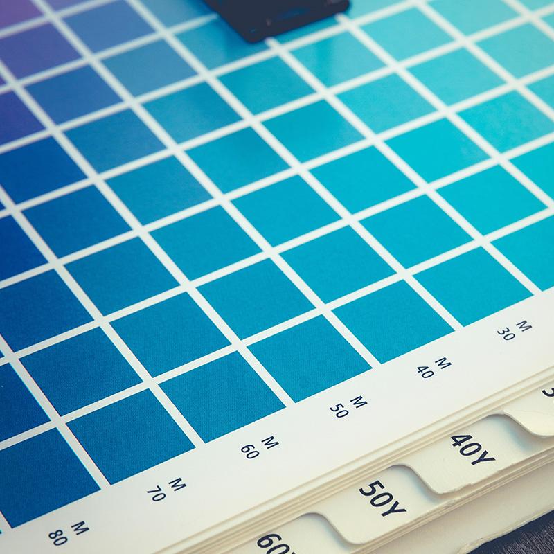 Färgprover i butiken