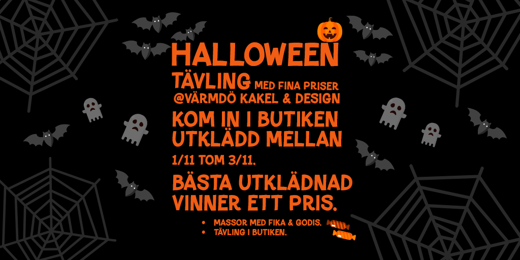 Halloween @Värmdö kakel & Design