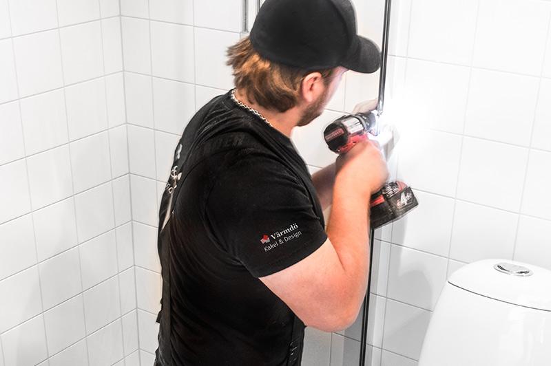 Proffsen på plattsättning och badrumsrenovering